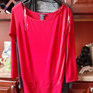 Pretty red dress.new without tags